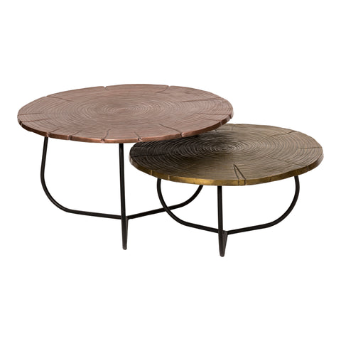Image of CROSS SECTION TABLES SET OF 2, Multicolor - Tops-Dress