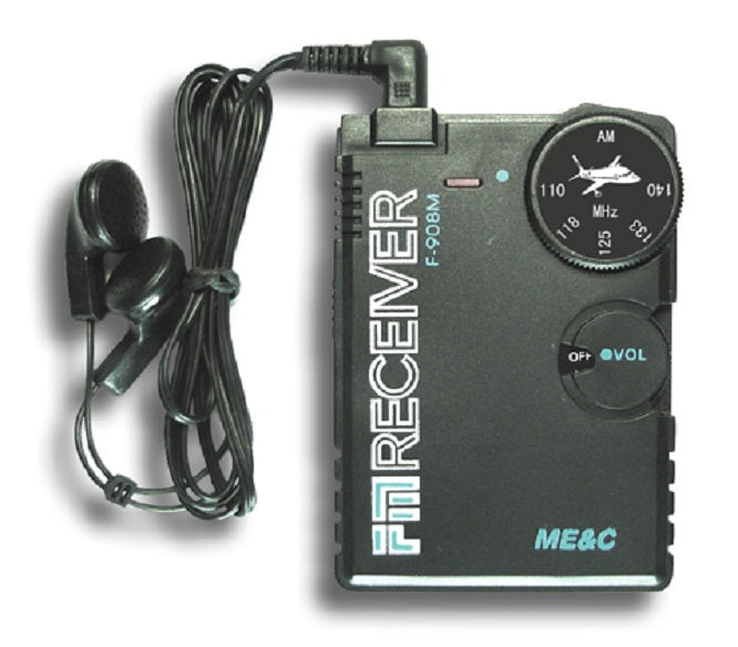 Airband Radio Receiver aviation band receiver for Airport Ground + headphone