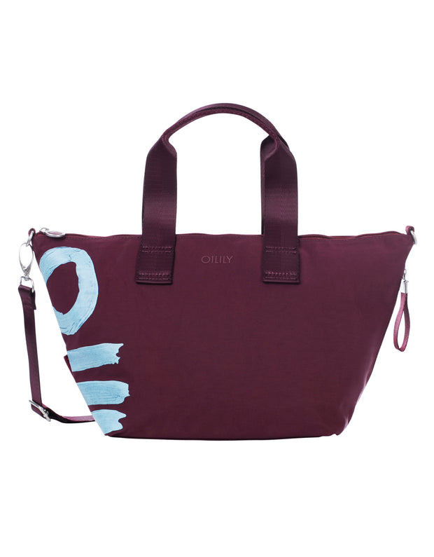 Handtas Fun Nylon burgundy