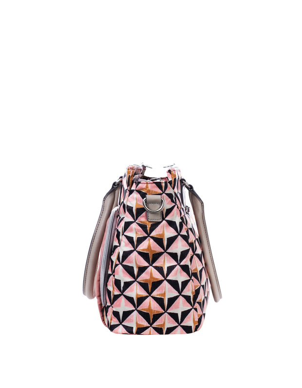 Diaper bag Charm Geometrical rose