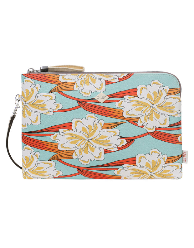 Clutch lhz Jolly Ornament licht turkoois-Oilily-OS-Oilily.com
