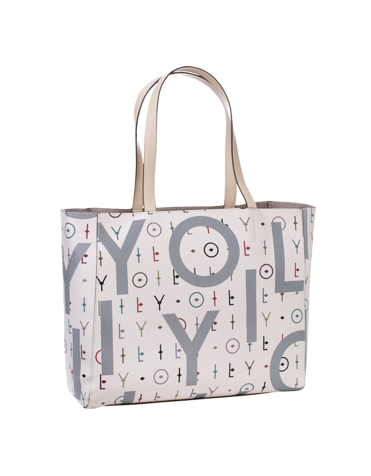 Shopper Jolly Letters offwhite