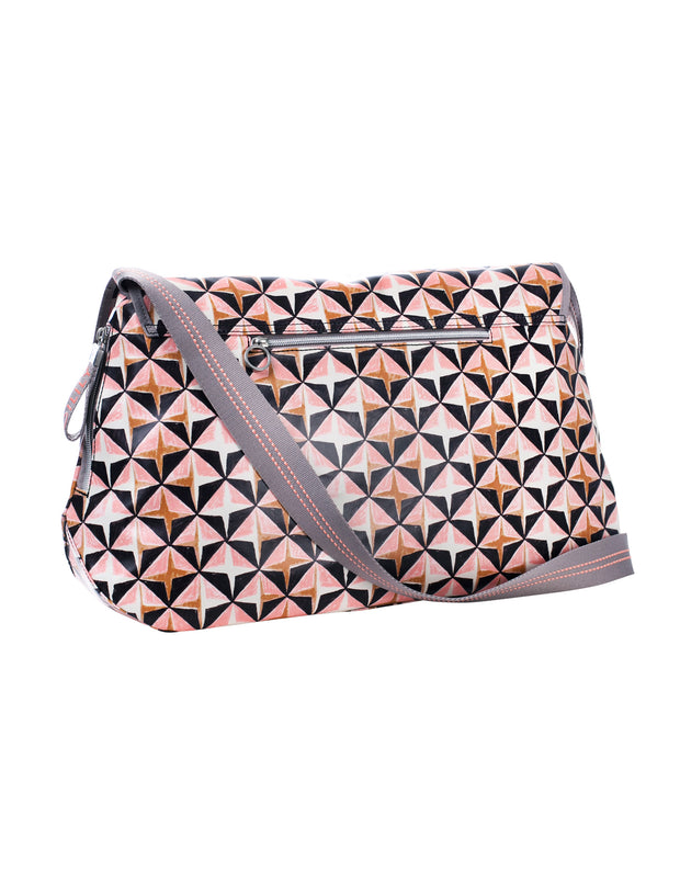Diaper bag Lori Geometrical rose