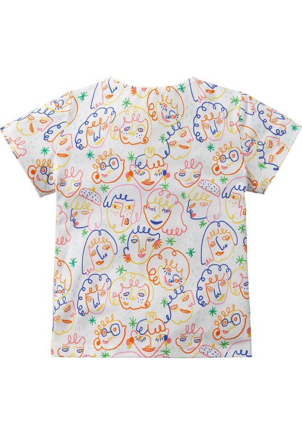 Off-white jersey shirtje met grappige Artist print-Room Seven-104-Oilily.com