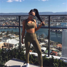 WOMEN'S OLIVE 2PC TRACKSUIT