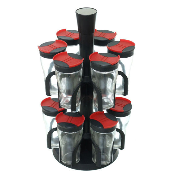 12 jar spice rack set