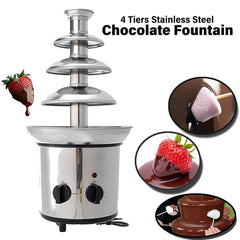 4 Tiers Stainless Steel Chocolate Fountain