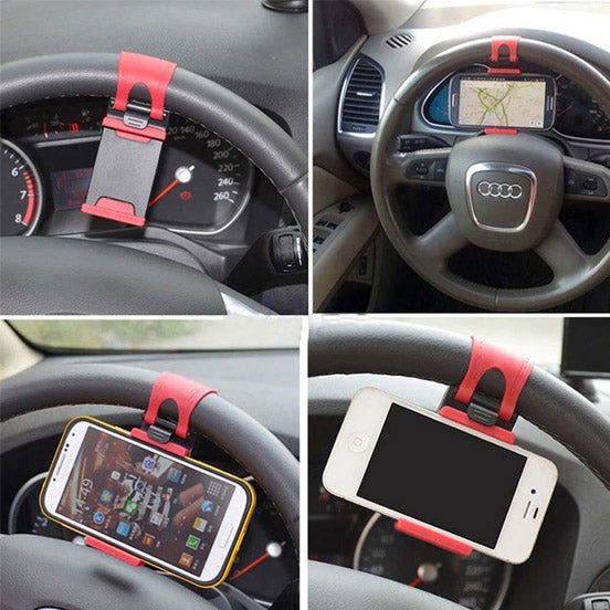 Car Steering Wheel Phone Socket Holder