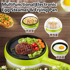 Electric Fry Pan & Egg Steamer