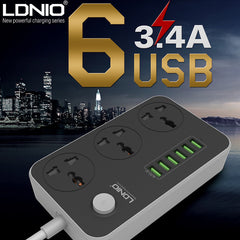 LDNIO 6 USB Charging Ports Power Multi Adapter