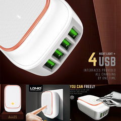 LDNIO LED Touch Lamp + 4 USB Port