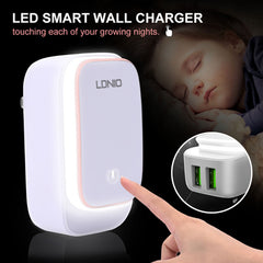 LDNIO Night Lamp + 2 Port 2.4A USB Charger