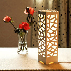 LED RGB Shaped Wooden Table Lamp