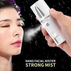 USB Handheld Nano Mist Spray Facial Humidifier Cold Sprayer Moisture Portable