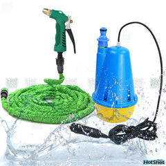 Portable Car Washer Pump, Gun & 10M Expendable Hose