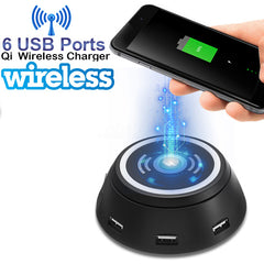 Rani 6 USB Ports Qi Wireless Charger