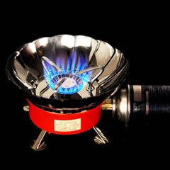 Windproof Portable Butane Gas Camping Stove Burner