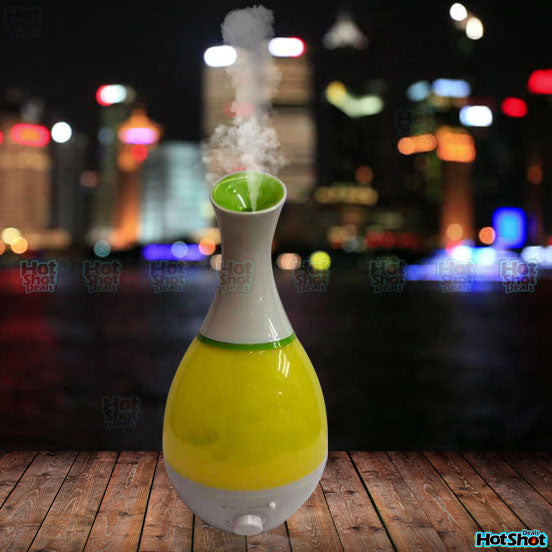 Vase Design Air Humidifier With Led Light Hotshotdeal
