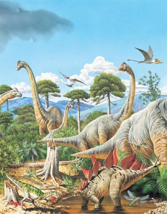 Dinosaurs Roamed the land Long Ago....