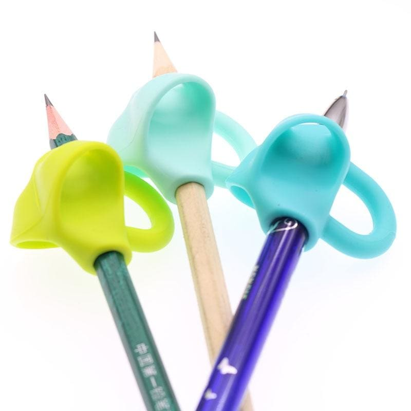 3 pc Magic Grip Ergonomic Training Pencil Holder - Stationery Set