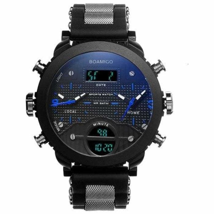 3 Time Zone Military Sports Watches - blue - Sports Watches