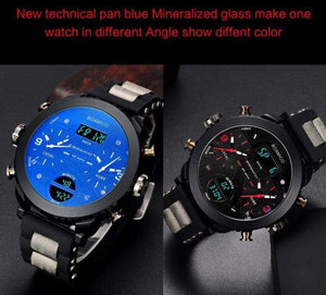 3 Time Zone Military Sports Watches - Sports Watches