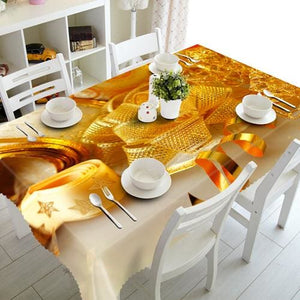 3D Christmas Tablecloth Just For You - G / 90 X 150cm - Tablecloths