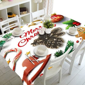 3D Christmas Tablecloth Just For You - H / 140 X 180cm - Tablecloths