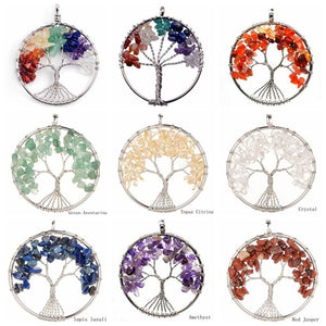 7 Chakra Healing Crystal Necklace Pendants - Pendants
