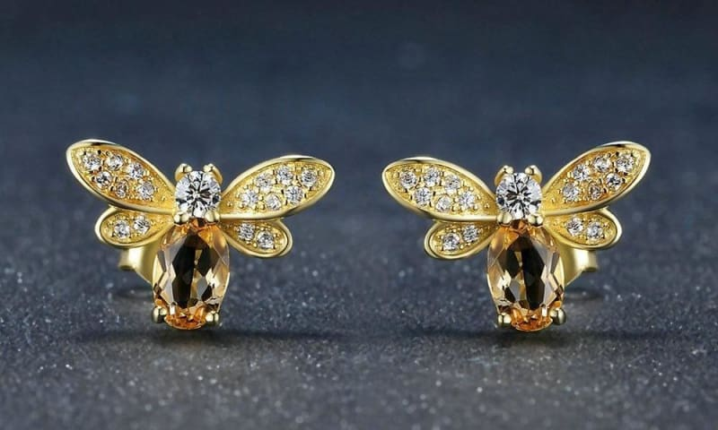 925 Silver Honey Bee Ring Jewellery Sets - Jewelry Sets