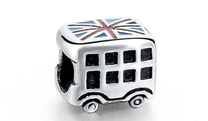 925 Sterling Silver Charms Beads - Bus Charm - Beads