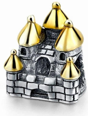 925 Sterling Silver Charms Beads - Dream Castle Charm - Beads