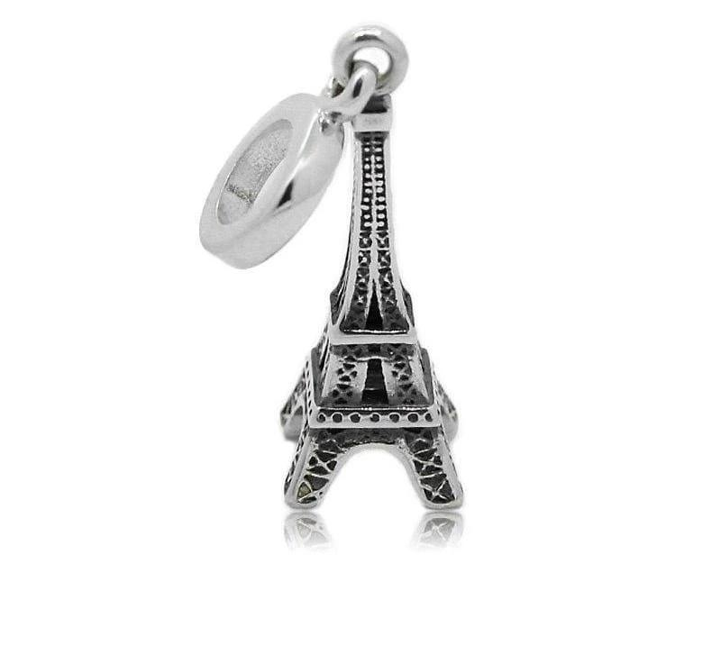 925 Sterling Silver Charms Beads - Eiffel Charm - Beads