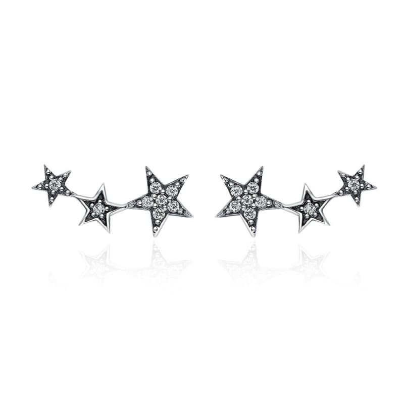925 Sterling Silver Star Stud Earrings - SCE175 1 - Stud Earrings