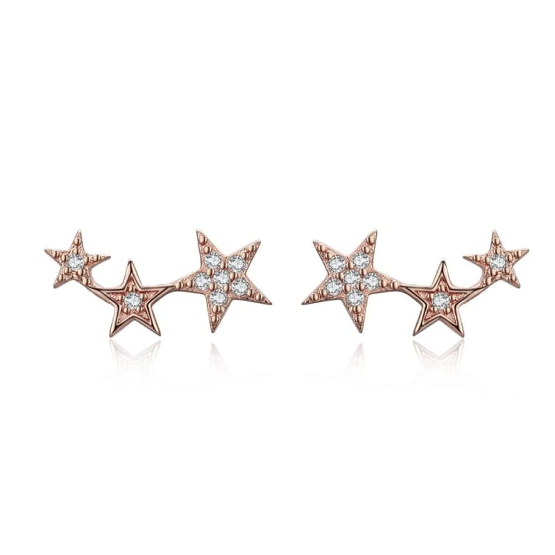 925 Sterling Silver Star Stud Earrings - SCE291 2 - Stud Earrings