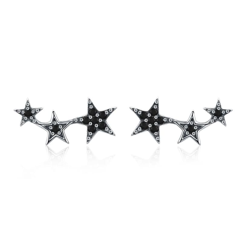 925 Sterling Silver Star Stud Earrings - SCE291 3 - Stud Earrings