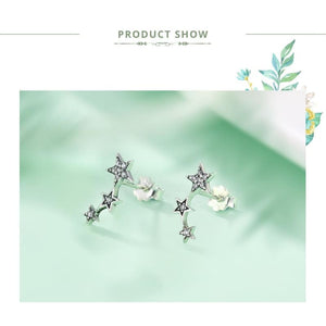 925 Sterling Silver Star Stud Earrings - Stud Earrings