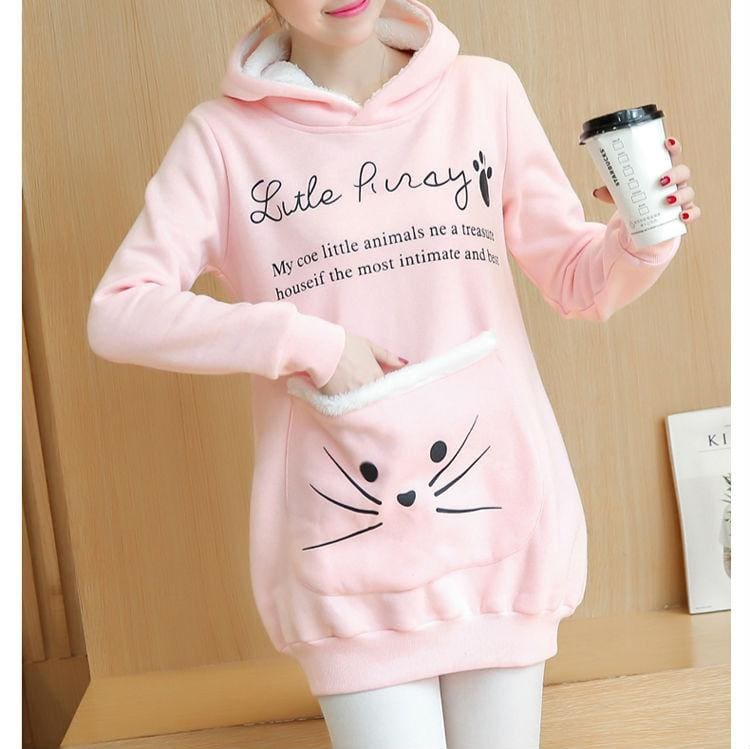 Amazing Cat Fleece Hoodie - Hoodies & Sweatshirts