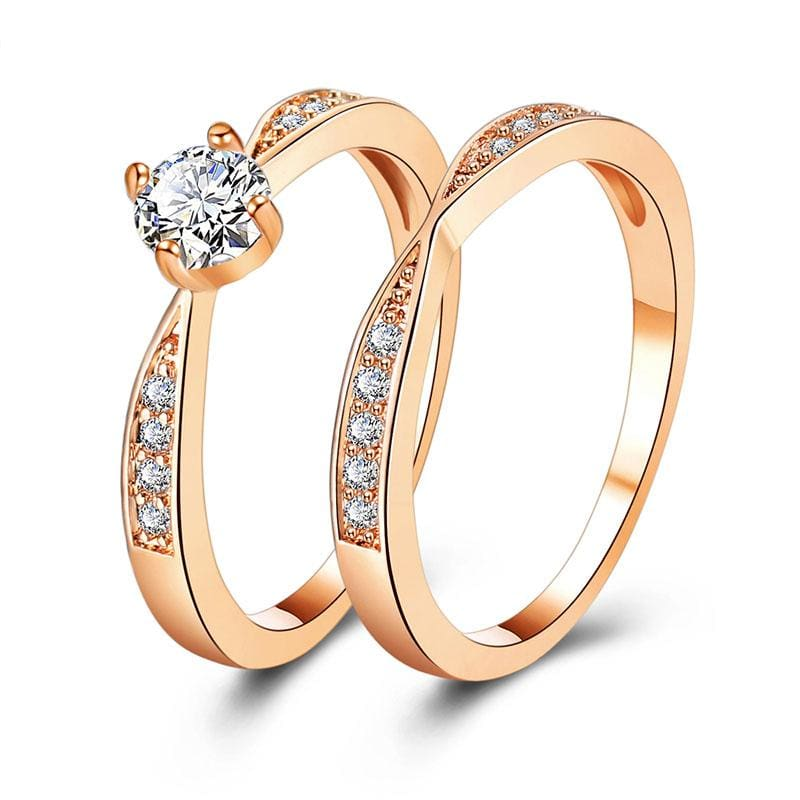 Amazing Cubic Zirconia Ring - 6 / Gold - Rings