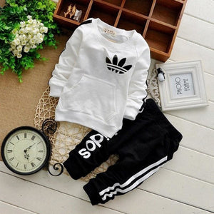 Amazing sporty Baby outfit - White / 6M - Clothing Sets