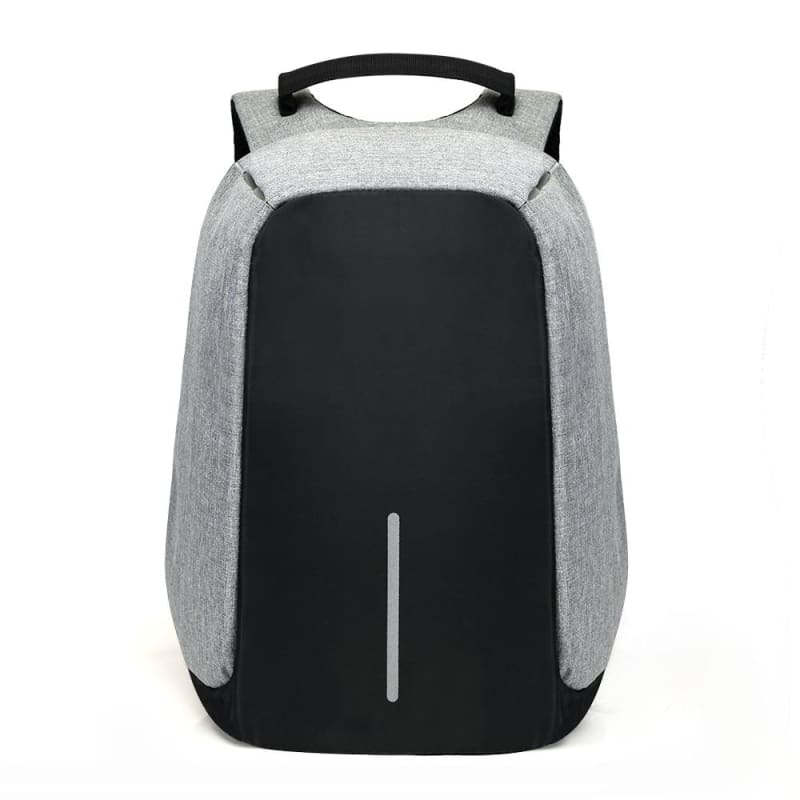 Anti Theft Laptop backpack Just For You - Gray - Backpacks1