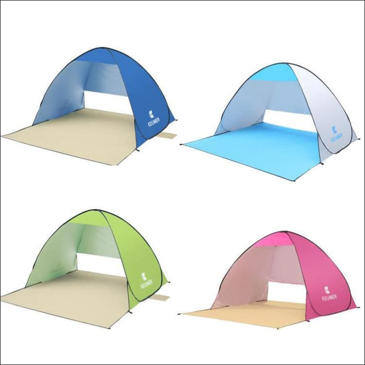 Anti-UV Popup Beach Tent - Pink - Tents