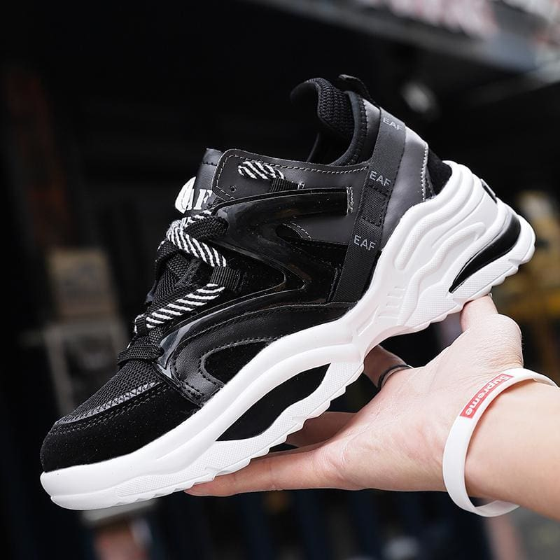 Autumn Vintage Breathable Tennis Sneakers - Black / 14 - Mens Casual Shoes