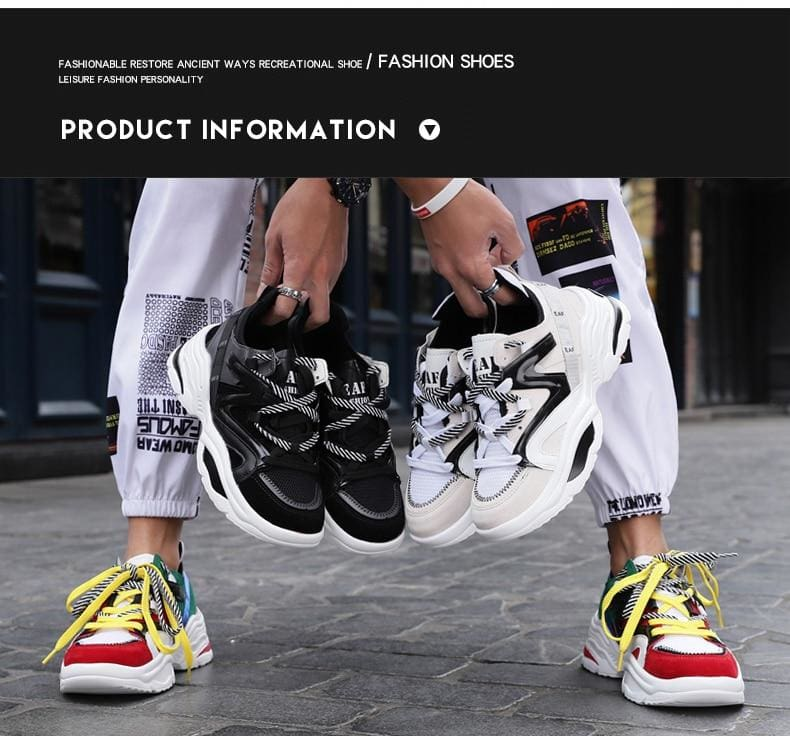 Autumn Vintage Breathable Tennis Sneakers - Mens Casual Shoes