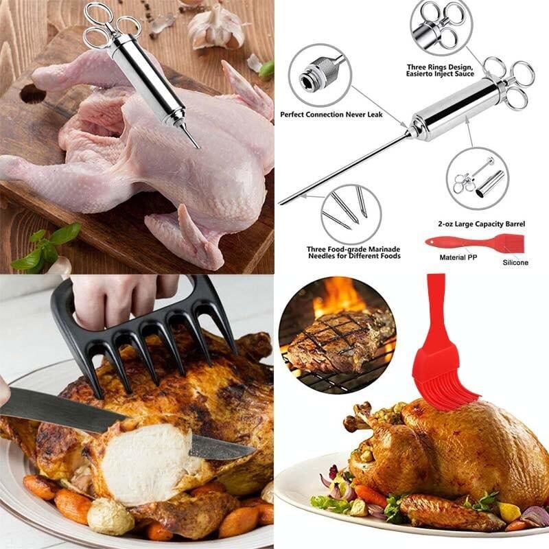 Best Marinade Meat Syringe Flavor Bbq Injector Needles