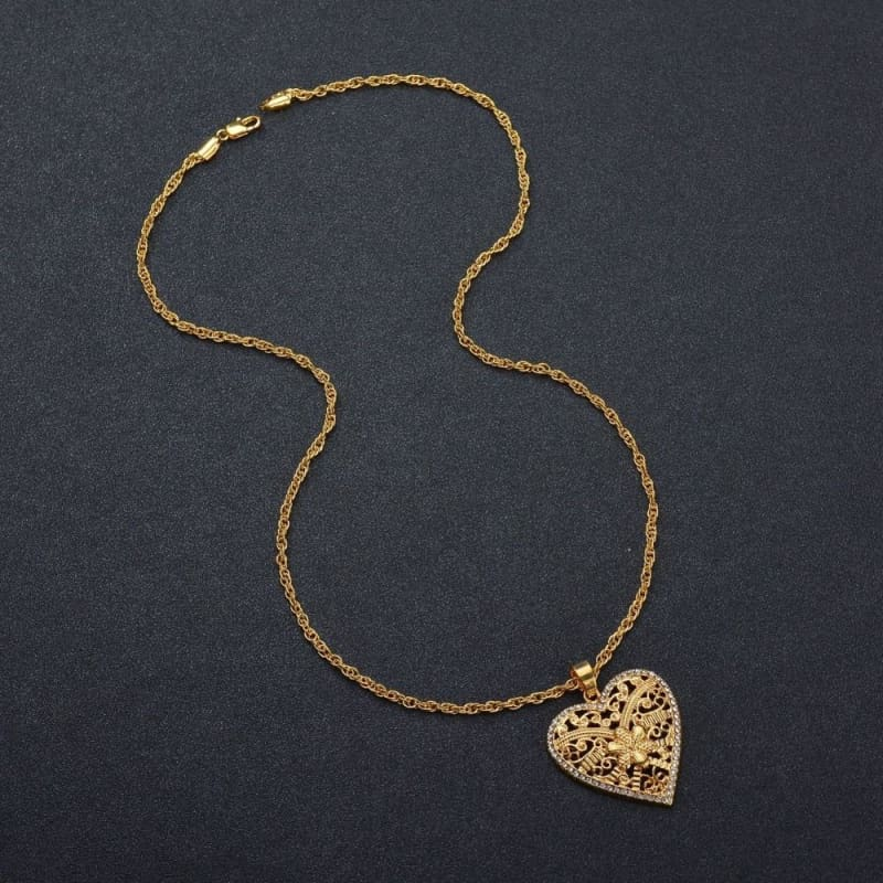 Big Heart Pendant Necklace - Pendant Necklaces