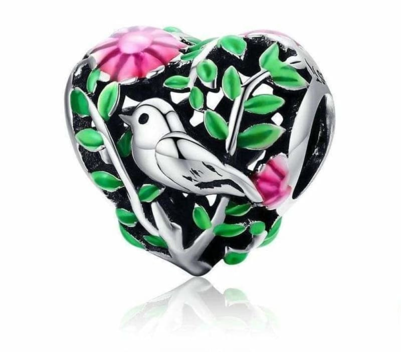 Bird In The Woods Charm - Beads