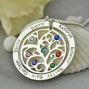 Birthstone Family Tree Necklace - Pendant Necklaces