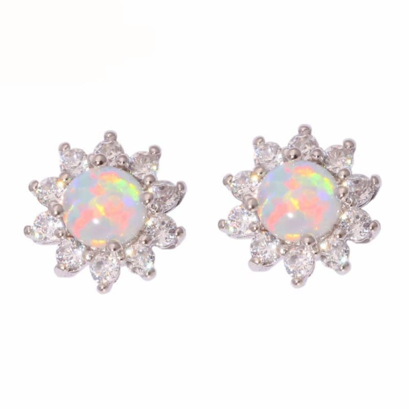 Amazing Blossom Opal Studs - Stud Earrings