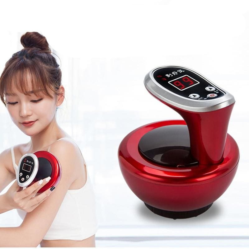 Body Massager Slimming Electric Cupping Stimulate - Type 3 Red - Massager1